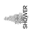 london builders how to choose a shower cabin text vector image vector image