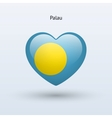 Love Palau symbol Heart flag icon vector image vector image