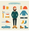Lumberman Fashion Trend Infographics Elements vector image vector image