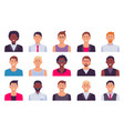 men avatars male set person collection guy vector image
