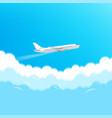 modern aircraft flying in a sky travel concept vector image vector image