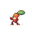 pixel art carrot vector image vector image