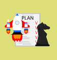 plan strategy and tactics of launching startup vector image vector image