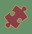 puzzle piece sign cordovan icon