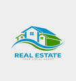 real estate houses logo design vector image vector image
