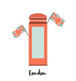 red telephone box london famous attraction vector image