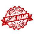 rhode island round ribbon seal vector image