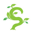 s letter ecology nature element icon vector image