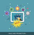 Sale and promotion banner Flat for promotion vector image vector image