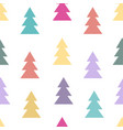 seamless pattern with fir trees vector image vector image