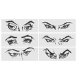 set female eyes vector image