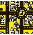 Small town roads seamless pattern vector image vector image