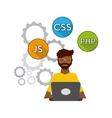 software developer and programmer vector image vector image