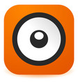speaker icon in flat style easy to change color vector image