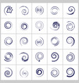 spiral icons vector image vector image