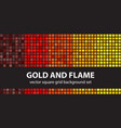 square pattern set gold and flame seamless vector image vector image