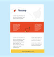 template layout for heart comany profile annual vector image vector image