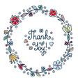 thank you handwritten inscription vector image vector image