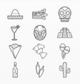 variety mexican elements set vector image vector image