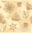 vintage nautical seamless pattern hand drawing vector image vector image