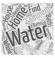 whole house water filter Word Cloud Concept vector image vector image
