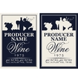 wine label with the silhouette of a still life vector image vector image