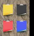 Note papar color set on paper texture Texture vector image