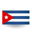 Cuban Flag vector image