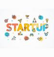 success start up concept paper art vector image