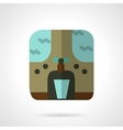 Water purifier flat color icon vector image
