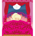girl sleeping in his bedroom vector image