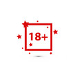 18 age warning stamp flat vector image vector image