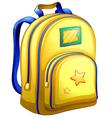 A yellow schoolbag vector image vector image