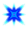 abstract blue star on a black background vector image vector image