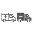 ambulance car line and glyph icon medical and vector image vector image