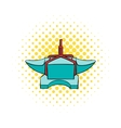 Anvil with rope icon comics style vector image vector image