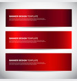 banners red shiny glossy gradient banner vector image vector image