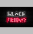 black friday sale black friday neon sign on brick vector image vector image