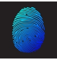Blue color fingerprint vector image vector image