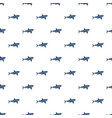 blue shark pattern seamless vector image vector image