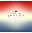 blurred color netherlands flag background vector image