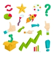 Business plan icons set cartoon style vector image vector image