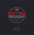 butchery or restaurant logo best meat vector image vector image