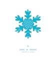 Christmas snowflake frame blue snowflakes textile vector image