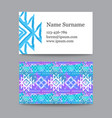 collection of ethnic business cards with a vector image