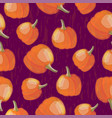 colorful seasonal seamless pattern with pumpkins vector image