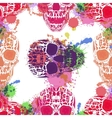 Day Of The Dead Skull Seamless on vector image vector image