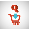 ecommerce with searching icon vector image