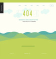 error web page template - lanscape with mountains vector image vector image