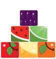 fruit pyramid vector image